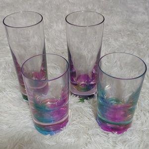 NWOT Rainbow Bottom Drinkware